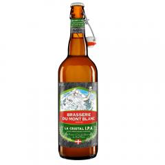 La Cristal IPA - Blonde légère désaltérante 4,7% vol. soft IPA  :  brassée à l'eau des glaciers du Mont-Blanc, bière blonde légère équilibrée finement houblonnée à l'amertume modérée (IBU30). Ampleur et fraicheur obtenues par houblonnage à cru (dry hopping). Un nez houblon très floral et agrûme, suivi d'une 1ère bouche également très florale, un corps équilibré et une fin de bouche ample et fraiche.