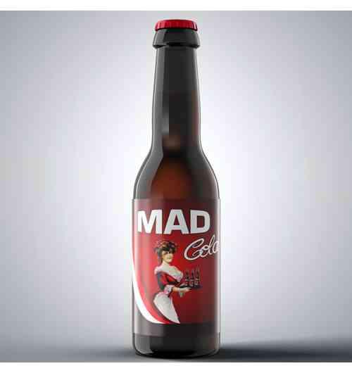 Mad Cola - Cola artisanale aux extraits naturels de végétaux et à teneur réduite en sucre.