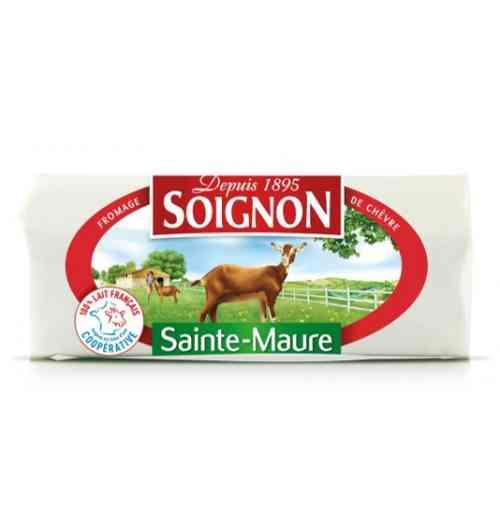 Bûche Sainte-Maure 200g - Fromage de chèvre traditionnel fabriqué à partir de lait de chèvre entier 100% français.  Une couleur blanche, une texture fine et fondante, son goût franc, typique du fromage de chèvre, raviront les amateurs de chèvre.