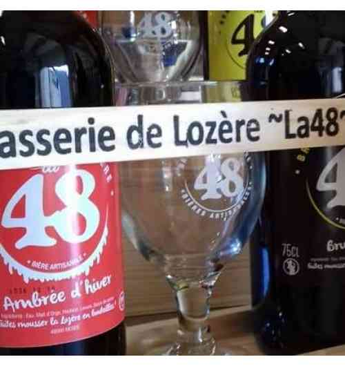 Bières artisanales BRASSERIE DE LOZERE - LA 48 - Bières artisanales à la tireuses et en bouteilles (33cl et 75cl)