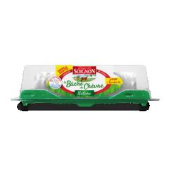 Bûche de chèvre Nature 150g - Avec son goût léger et doux, la Bûche de Chèvre Nature plaît aux petits comme aux grands.  Elle permet d'initier les enfants à la richesse et aux saveurs du fromage de chèvre.