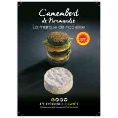 Camembert de Normandie - Fromage à pâte molle, au lait cru de vache, à croûte fleurie, en Appellation d'Origine Protégée