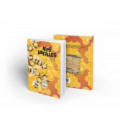 """""""Nos Abeilles"""" - Ce livre est la rencontre de deux passionnés : un pour les abeilles, une pour la pédagogie. Et il y a eu comme une évidence…  Apiculteur depuis 2009, Jean-Bernard prend soin de ses butineuses dans la campagne auvergnate. Professeure des écoles depuis 2002, Marie s'attelle depuis quelques années à la formation des enseignants. Elle a été piquée par les abeilles, il a été séduit par la pédagogie. Et ils se sont dit oui !  Oui pour la conception d'un album de littérature de jeunesse dans lequel le lecteur est happé par une belle histoire tout en apprenant sur le monde des abeilles et leur rôle indispensable dans la nature."""