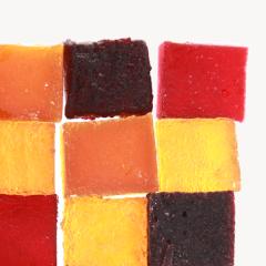 Pâtes de fruits - au sucre de canne et aux fruits (cerise griotte, framboise, cassis, ananas, mangue, bergamote, kalamansi, fruits de la passion)