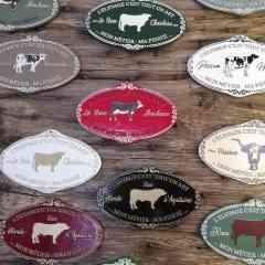 Plaques de concours - Plaques agricoles en fonte d'aluminium. FABRICATION FRANÇAISE (Fonderie de concours agricole).  FORMAT  19 x 17,5 cm et 24 x 15 cm.