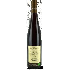 """Pinot Noir """"Les Natures"""" 2016 - Un étonnant Pinot Noir avec beaucoup de promesses. Agréable au nez, très fruité et aromatique. Délicat en bouche, la cerise, les tanins soyeux, le boisé léger mènent à une finale harmonieuse et souple."""