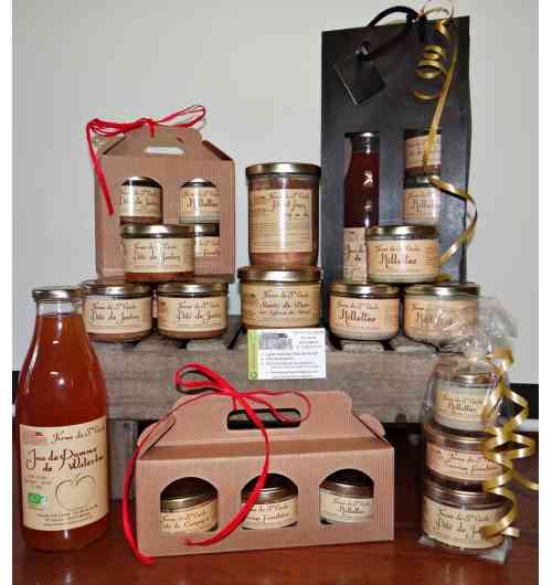 La ferme de Sainte Cécile : Terrine de porcs, rillette, jus de pommes