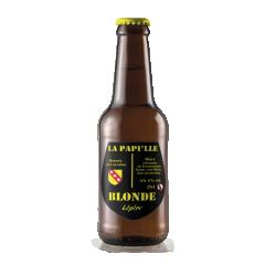 La Papille BLONDE BIO - Bière Légère - Une valeur sure pour vos papilles! Voyagez au cœur des céréales avec cette bière dorée, houblonnée et maltée à souhait. Affirmée en fin de bouche, l'amertume est juste à sa place.