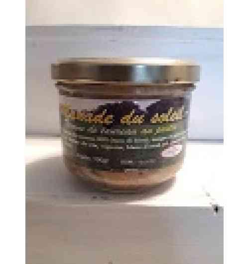 Pâté au pastis - Viande de taureaux camargues (raco di biou) 30% gras de porc foie de porc vin rouge farine de riz oignon pastis 2% sel et poivre