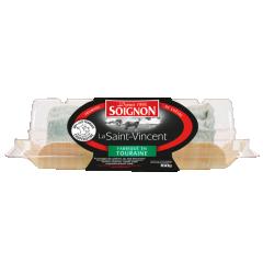 Bûche Saint-Vincent 150g - La Saint Vincent détient tous les ingrédients d'un fromage de chèvre pur terroir : moulée à la louche, roulée manuellement dans la cendre, et fabriquée à partir de laits crus rigoureusement sélectionnés.  Une couleur ivoire et un goût caprin raffiné.