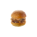 Burger Savoyard - <p>Steack haché*, Tomme de Savoie AOP, Oignons confits, Sauce du Chef</p> <p>Accompagnement au choix : frites rustiques, riz poêlé aux légumes croquants</p> <p>*origine France</p>