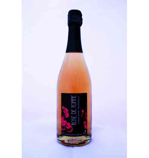 cidre rose de pomme - cidre blanc avec un ajout de 2% de jus de raisin rouge titrant à 4° d'alcool, se déguste à l'apéritif ou avec un dessert.