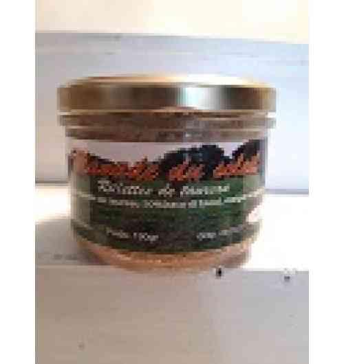 Rillette de taureaux - Viande de taureaux Camargue (raco di biou) 50% gras de porc sel poivre