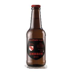 La Papille AMBREE BIO - Bière - Un peu de chaleur pour vos papilles! Le mélange de céréales plus ou moins torréfiées apporte de beaux reflets cuivrés. Des notes de caramel viennent d'allier à une pointe d'acidité, conférant à cette bière toute sa finesse.
