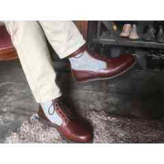 Montparnasse - chaussures de ville en cousu norvégien - Ce modèle en cousu norvégien, monté à la main dans notre Atelier associe la laine de mouton des Pyrénées et les cuirs français les plus nobles