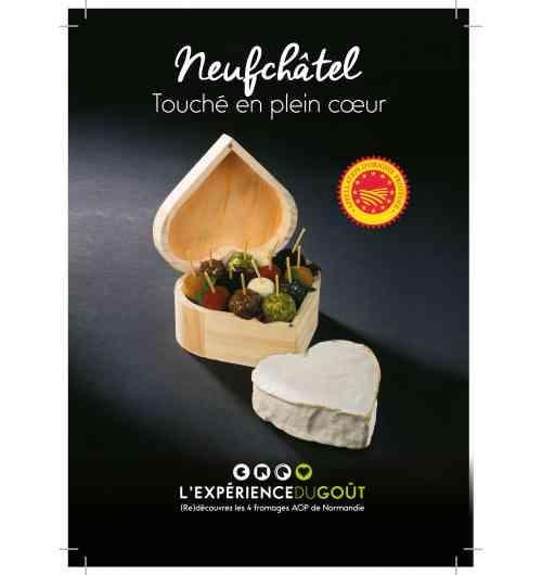 Neufchâtel - Fromage à pâte molle, au lait entier de vache, à croûte fleurie, le plus souvent en forme de cœur, en Appellation d'Origine Protégée