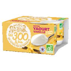 Yaourt vanille - Yaourt étuvé à la vanille fabriqué à partir de lait entier 100% français et d'une touche de crème. Format 4x125g. On craque pour ce yaourt vanille et son arôme naturel. Totalement généreux et fondant.