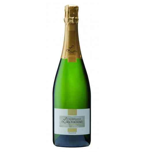 Champagne cuvée Tradition - Belle majorité de Meunier, assemblée au Pinot Noir, et une touche de Chardonnay. Nez très frais, notes de fleurs séchées. A l'apéritif en cocktail, ou sur un Comté