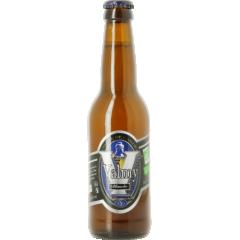 Valmy blanche bio 5° - La Valmy blanche est brassée avec du malt d'orge auquel du froment est ajouté pour lui donner son caractère fruité et rafraîchissant. Ses arômes d'épices mêlés aux parfums d'agrumes en font une bière idéale pour se désaltérer.