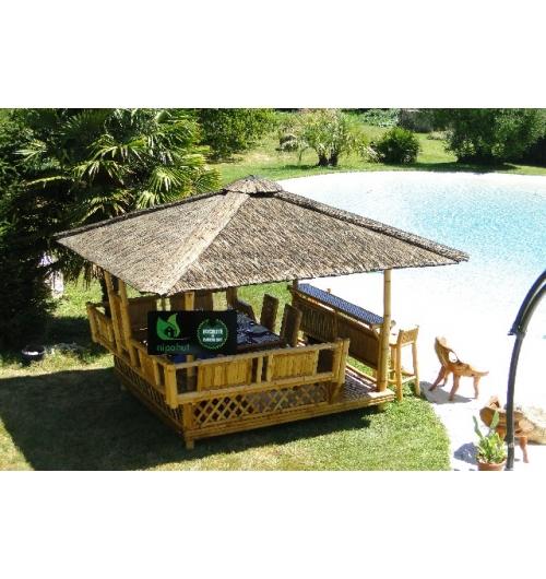 paillote de jardin laguna bar salon international de l. Black Bedroom Furniture Sets. Home Design Ideas