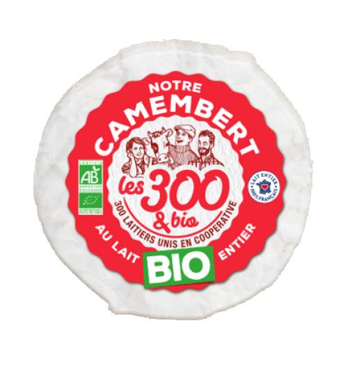 Notre camembert - Camembert fabriqué à partir de lait entier 100% français et d'une touche de crème. Format 250g.  Avec son fond de boîte en carton 100% recyclable et son papier fromagé labellisé FSC, le camembert propose un emballage éco-responsable