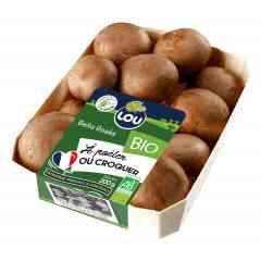 Bella rosé 200g - L'incroyable champignon marron cousin du fameux champignon de Paris blanc, une texture plus ferme, un goût plus prononcé, plus boisé, l'essayer, c'est l'adopter. En plus chez LOU il est cultivé aux portes de la Bretagne sans pesticide et certifié BIO. A consommer sans modération cru ou cuit.
