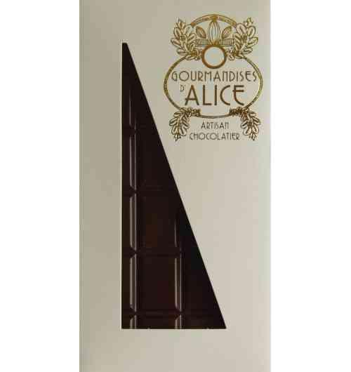 Tablette chocolat à la violette de Toulouse - Tablette chocolat noir 70% min de cacao à la violette de Toulouse