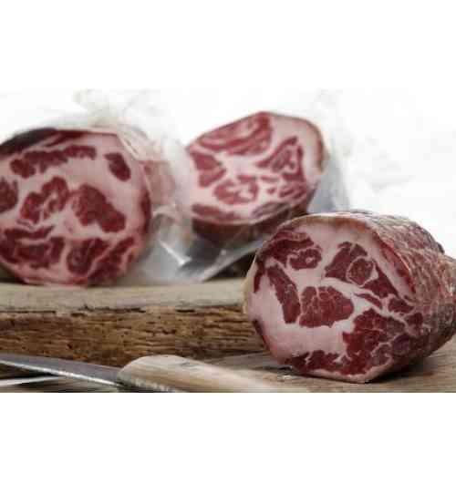 Echine ou filet séché de porc Noir Gascon - Echine (aussi appelée Coppa), Filet (ou Lomo) sont deux morceaux de choix affinés pour votre plus grand plaisir.