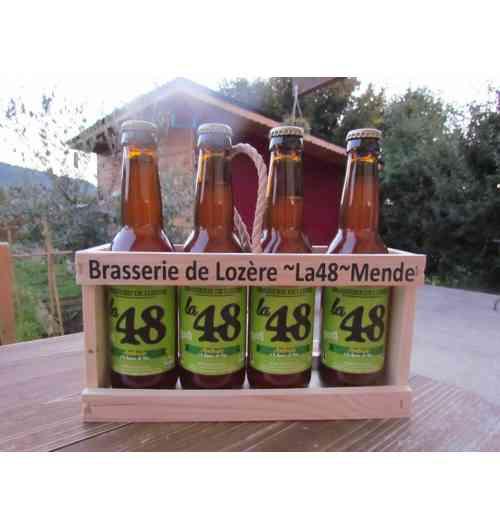 """Bière """"La 48"""" - Bière artisanale lozèrienne, elle se décline en plusieurs variétés : Ambrée, blonde, blanche etc."""