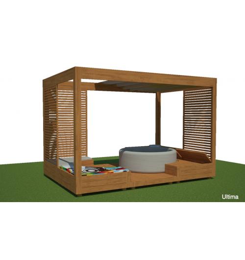 Abri ARA - <p>Epace plein air avec aménagement de vie pouvant accueillir un spa.</p> <p>Equipement pour les jardins, gîtes, chambres d'hôtes.</p>
