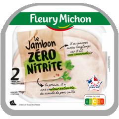 Jambon zéro nitrite - Notre recette est élaborée sans aucune mise en œuvre de nitrite afin de vous garantir un jambon sans conservateur. C'est pour cela qu'il a une couleur plus pale et qu'il se conserve moins longtemps.