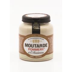 Pot grès Moutarde au Miel Pommery® - La moutarde au miel Pommery® est une moutarde en grain, aromatisée d'épices et d'un miel de qualité lui apportant une douceur subtile si chère au goût anglo-saxon. Par son aspect assez fluide, cette moutarde badigeonnera aisément vos préparations culinaires. Elle est conditionnée en pot grès de 100g.