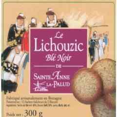 """Sachet """"LE LICHOUZIC"""" bLé Noir - Quelques journées dans les fourneaux de la biscuiterie Jain de Plonevez Porzay à chercher, équilibrer et bien doser cette recette que beaucoup nous avaient demandée... enfin, voilà le résultat du mariage du croustillant du Lichouzic avec la Farine de Blé Noir de Bretagne ! Nous en sommes fiers !  Impossible d'y résister... venez le goûter chez nous !"""