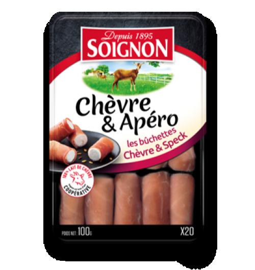 Les bûchettes chèvre & speck x20 - Un produit typé & frais. Un jambon de qualité et premium. Un produit authentique & traditionnel fait à la main.