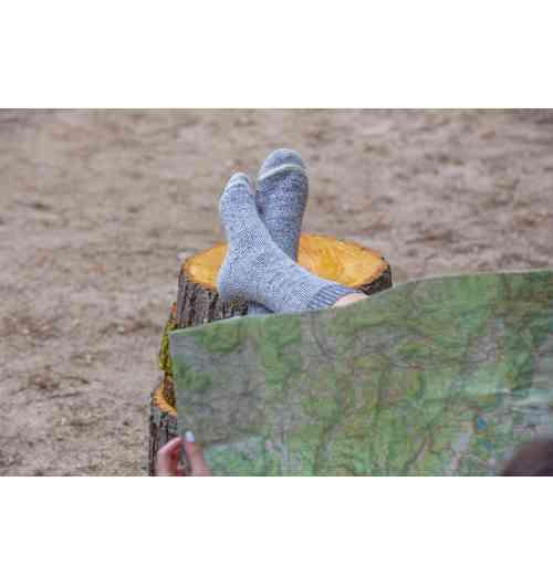 A découvrir : chaussettes randonnée en mohair - L'alliance du mohair et du mérinos sera votre allié pour toutes vos randonnées...
