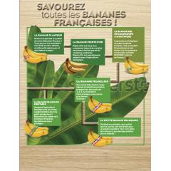 La Petite Banane Française - Destinée aux enfants, plus petite que les autres, elle est idéale pour un goûter équilibré ! Sur son ruban, elle arbore le personnage préféré de vos enfants !