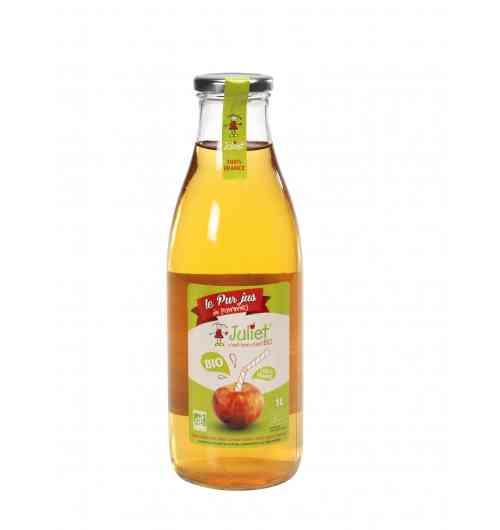 Jus, pétillants, cidres, purées de Pommes bio JULIET - Juliet se déguste également en jus, pétillants, cidres, purées (gourdes ou en pot verre)