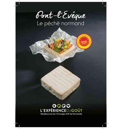 Pont-l'Evêque - Fromage à pâte molle, au lait de vache, à croûte lavée et brossée, de forme carré, en Appellation d'Origine Protégée