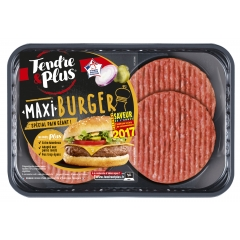 Maxi Burger Tendre & Plus - <p>Tendre et Plus propose des produits de boucherie issus de la filière viande de la coopérative agricole Terrena. Une marque coopérative pour qui l'innovation est une seconde nature !</p>