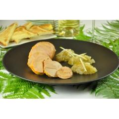 Foie gras de canard au piment d'Espelette, conserves, pâté basque, rillettes au piment d'Espelette, plats cuisinés basque (axoa, piperade...)