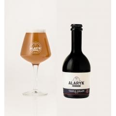 Alaryk Triple Grain Bio - <p>Alliant malts d'orge, de blé et seigle cru, la Triple Grain est une bière de caractère, gourmande, dans la grande tradition des bières d'abbaye. Cette bière de dégustation refermentée en bouteille est naturellement trouble.</p>