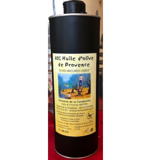 "AOC Provence ""olives maturées"