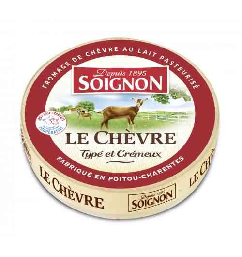 La boîte Le Chèvre 180g - Une croûte fine, une texture ferme et un cœur fondant. Un fromage qui s'affine a fil du temps et développe son intensité.