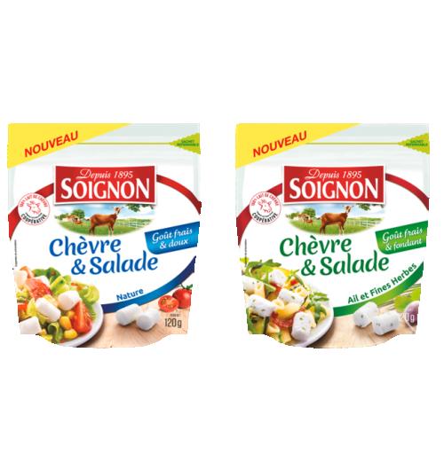 Les bûchettes Chèvre&Salade 120g - Du fromage de chèvre, au goût frais et doux et à la texture fondante. Un format de petites bûchettes, idéal pour sublimer vos salades.  Pratique, l'emballage est refermable !