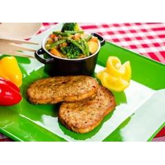 Steak de légumes - <p>L'indispensable pour faire de bons repas copieux.</p> <p>Sa texture et sa consistance vous feront penser à un burger, comparé aux autres burgers, il possède une variété de légumes généreux !</p>