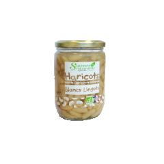 HARICOTS BLANCS LINGOTS NATURE BIO - Conseil de Dégustation : Réchauffez le bocal fermé pendant 10 minutes au bain-marie ou faites réchauffer le contenu dans une casserole à feu doux. Bon appétit !     TOUS NOS PRODUITS SONT SANS CONSERVATEUR NI COLORANT  Ingrédients: Haricots blancs Lingots français*, eau, sel. * Produits issus de l'agriculture biologique