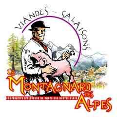 """Le Montagnard des Alpes - Créée en 1948, la marque du """"Montagnard des Alpes"""" est l'héritière d'une longue tradition d'élevage. La viande de porc du """"Montagnard des Alpes"""" provient d'animaux nés au cœur des montagnes où tradition d'élevage et bien-être animal sont les maitres mots. Ils sont soigneusement élevés dans la tradition locale avec une alimentation à base des céréales et placés sous surveillance sanitaire stricte."""