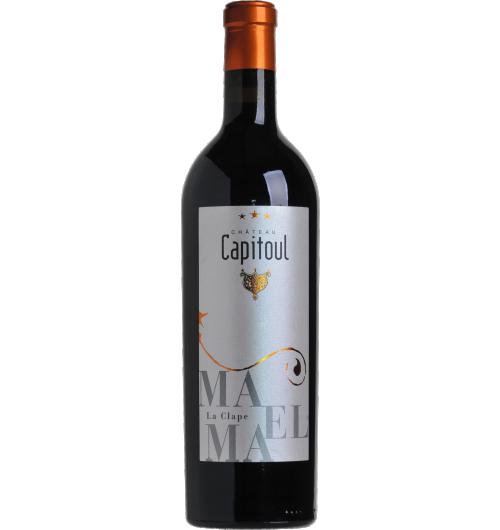 Vignobles Bonfils - Château Capitoul - Maëlma - CÉPAGES Syrah 56%, Grenache Noir 39%, Carignan 5%  APPELLATION AOP La Clape Rouge  SOL Argilo-calcaire  Situé au cœur du plus grand site naturel classé du Languedoc, Château Capitoul  met à profit une localisation unique et se dresse comme un point d'exclamation à l'extrémité de la presqu'île.  L'appellation La Clape fut reconnue et élevée au rang de cru en 2015, rejoignant ainsi les appellations françaises les plus prestigieuses à la renommée internationale.    TERROIR Ses 100 hectares de pinèdes et de landes et ses 64 hectares de vignes d'un seul tenant, viennent s'abandonner à la mer. Ce vignoble fortement influencé par les entrées maritimes produit des vins d'une grande fraîcheur. La diversité géologique des sols, argilo-graveleux, calcairo-marneux et argilo-calcaire accentue la puissance et l'élégance de ses cuvées.   VINIFICATION Les rendements sont volontairement bas, autour de 25 hl/ha, afin d'obtenir une concentration et une complexité maximale. Les vendanges font l'objet de tous les soins, avec double tri, avant et après égrappage, 50 % vinifié en vinification intégrale en barriques pendant 1 mois et demi puis élevé en barriques neuves et barriques d'un vin pendant 12 à 18 mois.   NOTES DE DÉGUSTATION Robe dense, d'un joli bordeaux foncé. Nez puissant et élégant à la fois, d'une complexité rare. Sur la base d'une très belle structure aux tanins soyeux, ce vin est une composition d'arômes aussi variés que la cerise noire, la framboise, le cassis avec des notes fumées très délicates.   AVIS DU SOMMELIER  Accords mets/vin : pâté de chevreuil, sanglier en sauce, haricots rouges à la créole, Roquefort, Brie aux truffes. Température de service : 16-18°C Conseils d'ouverture: à carafer 2 heures avant Garde : 7 ans