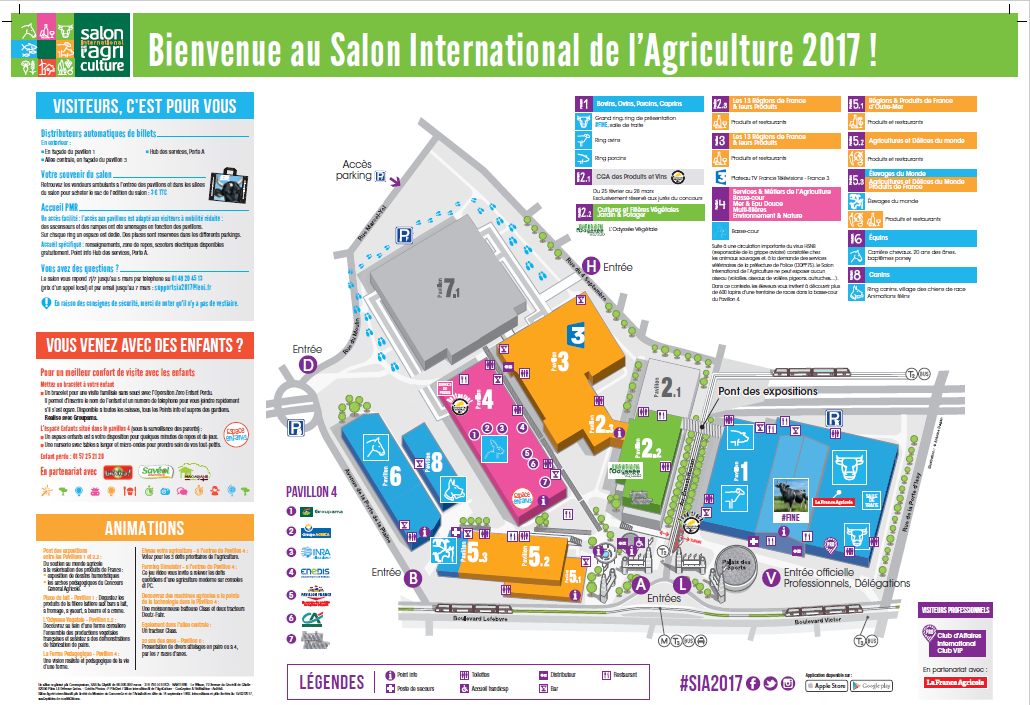 Plan du salon salon international de l 39 agriculture - Salon de l agriculture place gratuite ...