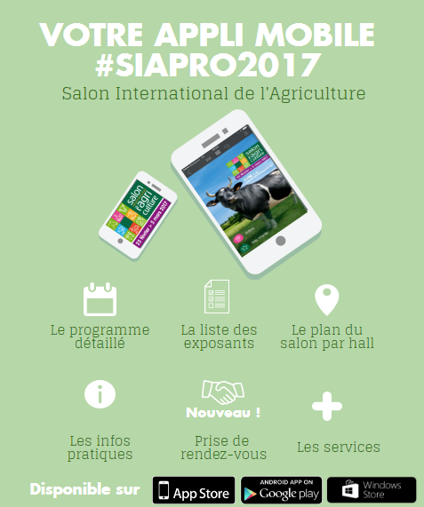 L 39 appli du salon salon international de l 39 agriculture for Salon de l agriculture 2017 billet gratuit